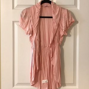 NWOT Body Central Rayon short sleeve coverup